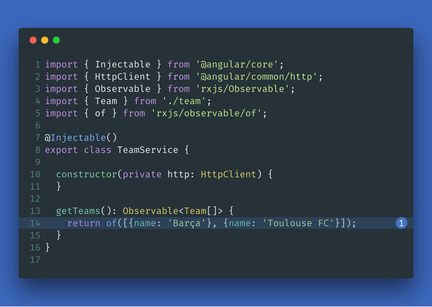 TeamService-hard-coded